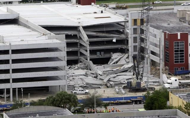 ریزش پارکینگ ۵ طبقه /عکس