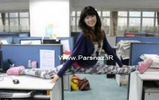www.parsnaz.ir - انعطاف پذیری بسیار جالب بدن دختران چینی + عکس