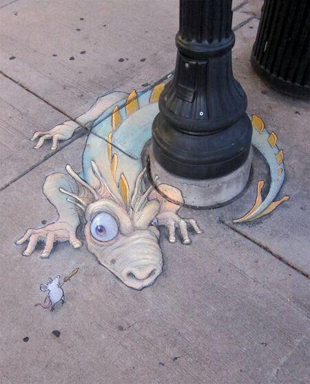تصاویر هنر نقاشی سه بعدی با گچ