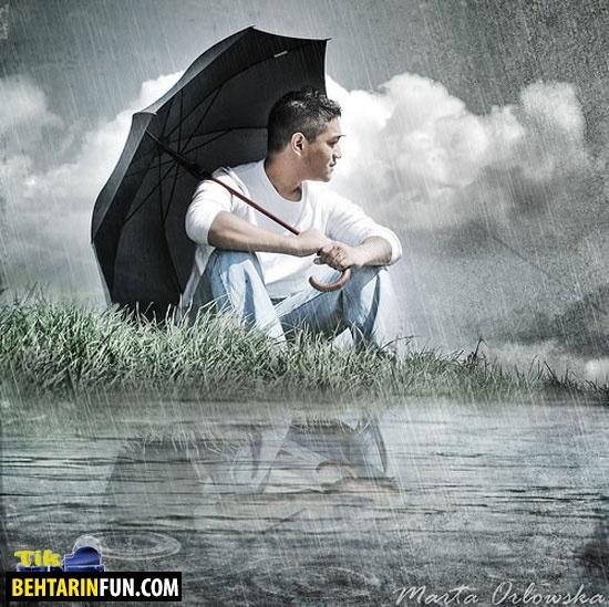 تصاویر رمانتیک و عاشقانه در باران