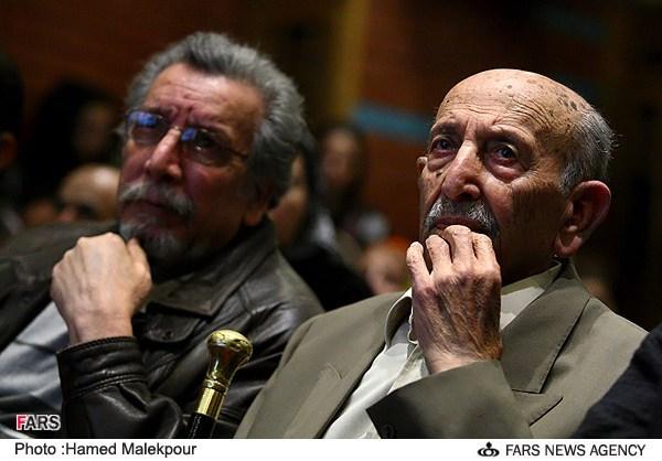 مرتضی احمدی در مراسم جشن تولد 88 سالگی اش