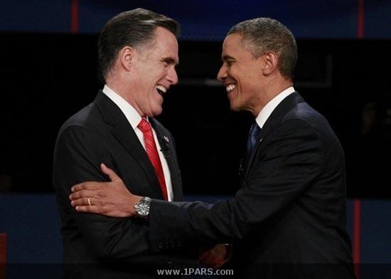 حاشیه مناظره انتخاباتی اوباما و رامنی + تصاویر