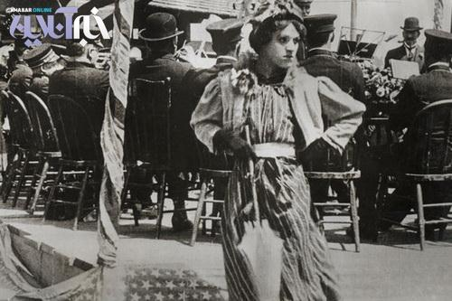 عکس چارلی چاپلین در نقش یک زن