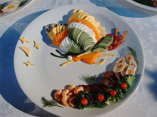 تصاویر ترکیبی از هنر آشپزی و نقاشی چینی