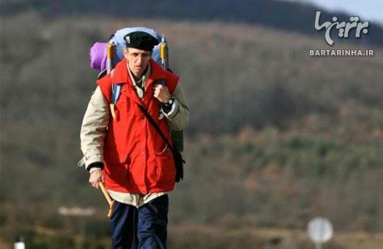 پیاده روی 6000 کــیلومتری مرد اروپایی برای زیارت خانه خدا