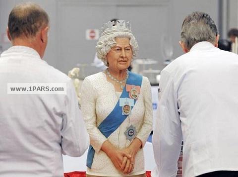 مجسمه شکری ملکه انگلیس + عکس