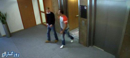 تصاویری از لحظات وحشتناک در یک آسانسور!
