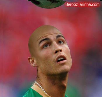 Ronaldo Cristiano balderized سوپر استار های معروف را کچل ببینید (عکسهای جالب)