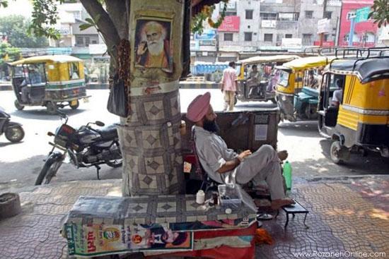 دندانپزشکی خیابانی در هند! +عکس