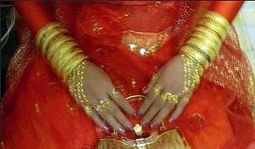 عروسی که با 6 کیلو طلا iبه منزل شوهرش رفت!! + تصاویر