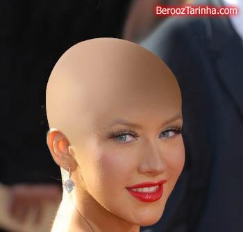 Christina Aguilera balderized سوپر استار های معروف را کچل ببینید (عکسهای جالب)