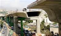 سقوط پل صدر منجر به ترافیک شبانگاهی شد