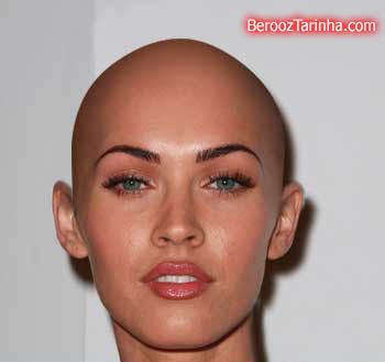 Megan Fox shavedHead سوپر استار های معروف را کچل ببینید (عکسهای جالب)