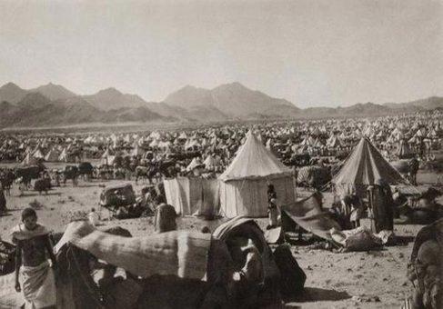 چادرهای حجاج در صحرای عرفات