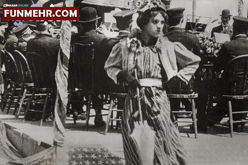 عکس دیدنی چارلی چاپلین در نقش یک زن !