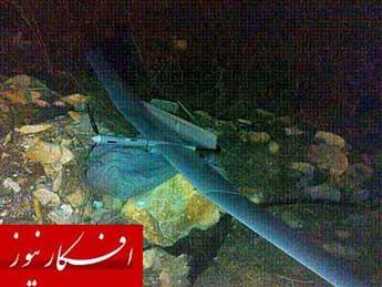 سقوط پهپاد اسرائیلی در لبنان + تصویر