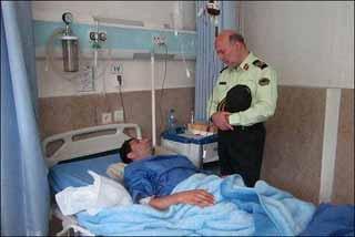 91 07 930 مامور پلیس پاهایش را در عملیات تعقیب و گریز از دست داد.