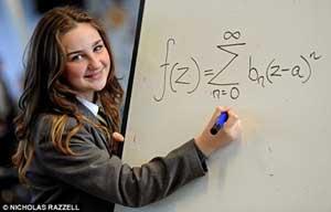 این دختر باهوش از انیشتین هم باهوش تر است + عکس