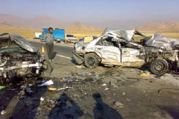 تصادف ۳ خودرو در اتوبان امام علی قم