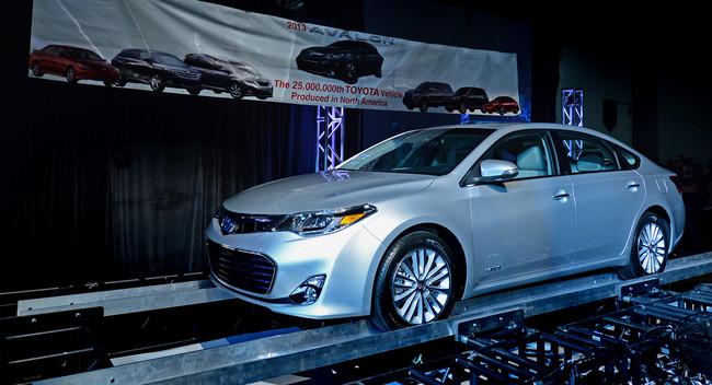 تولید تویوتا در امریکا lبه ۲۵ میلیون خودرو رسید