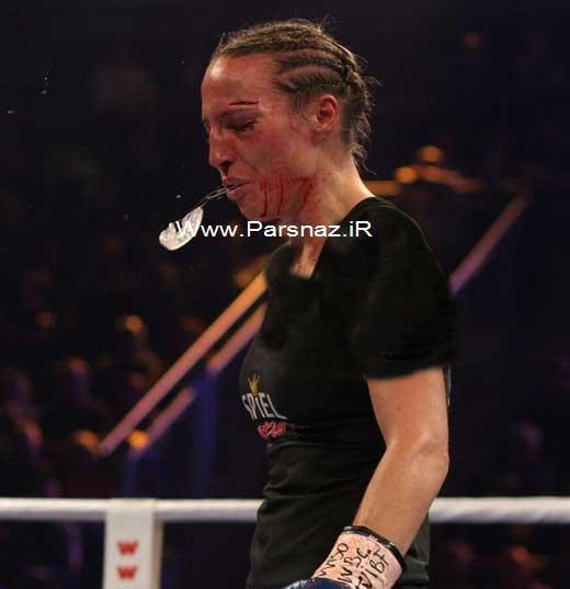 www.parsnaz.ir - اوج خشونت قهرمان بوکس زنان در این مسابقه + تصاویر