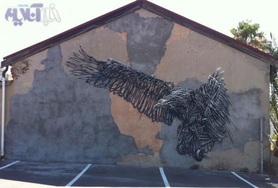 تصاویری از حیوانات فلزی در سطح شهر