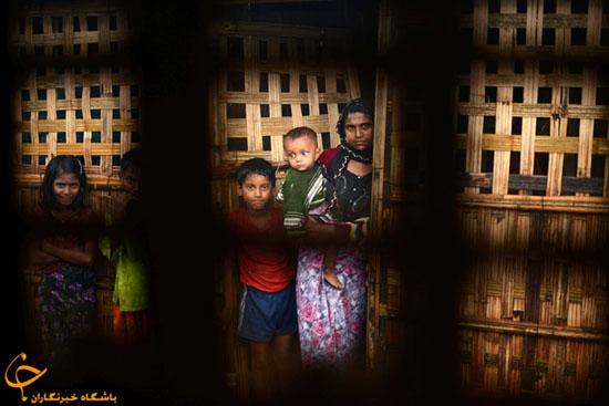 تصاویر غم انگیز از آوارگی مسلمانان میانمار