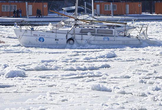 زیبایی یخ زده دریای سیاه