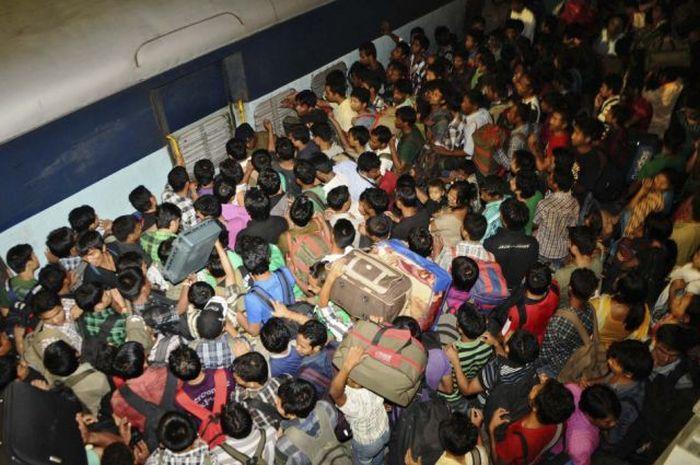 تصاویر سفر با قطار در هند