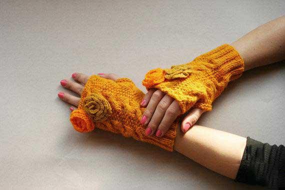 مدل زیبای دستکش بافت