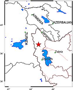 """زمین لرزه """"خوی"""" در آذربایجان غربی را لرزاند"""