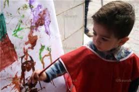 کودکان از رنگ ها دنیایی زیبا می سازند