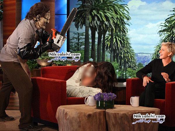 وحشت بسیار زیاد سلنا گومز در یک برنامه تلویزیونی +عکس