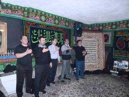عکس های مراسم عزاداری ماه محرم در منزل علی پروین