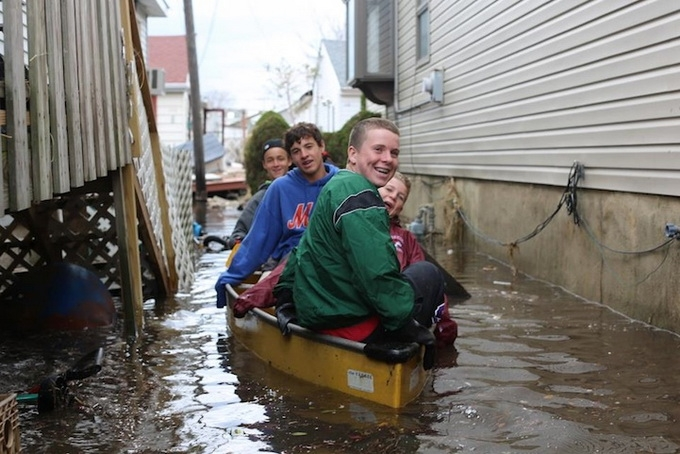 New Yorkers After Hurricane Sandy