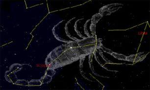 ستاره قلب العقرب و سیاره عطارد در مقارنه با یکدیگر