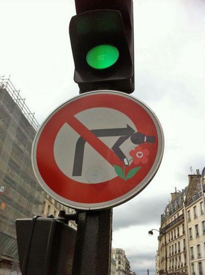 تصاویر شوخی با تابلوهای راهنمایی و رانندگی