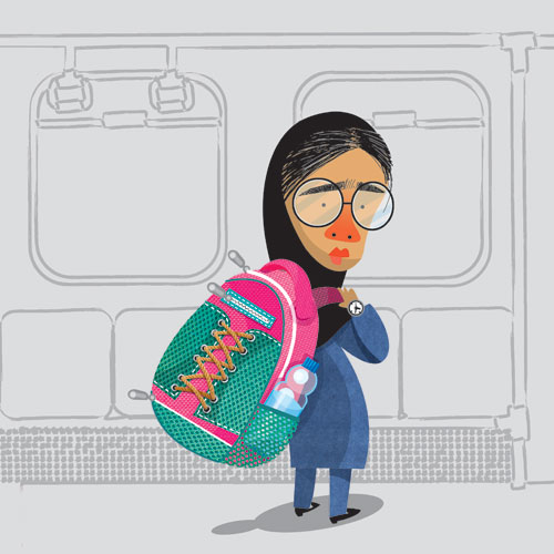 تیپ های جالب زنان و دختران ایرانی در مترو