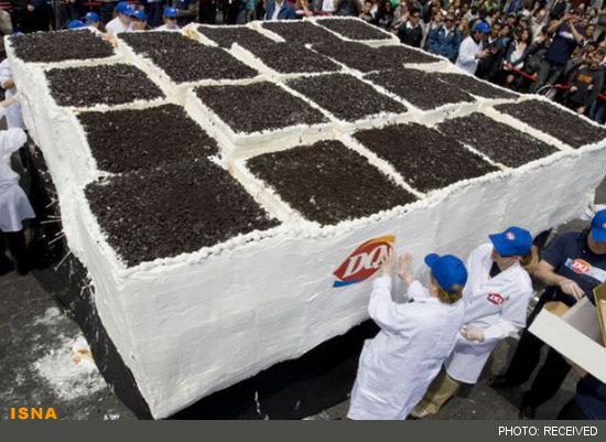 بزرگترین کیک بستنی جهان+عکس