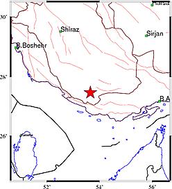 """زلزله ۴٫۳ ریشتری """"بیرم"""" فارس را لرزاند"""