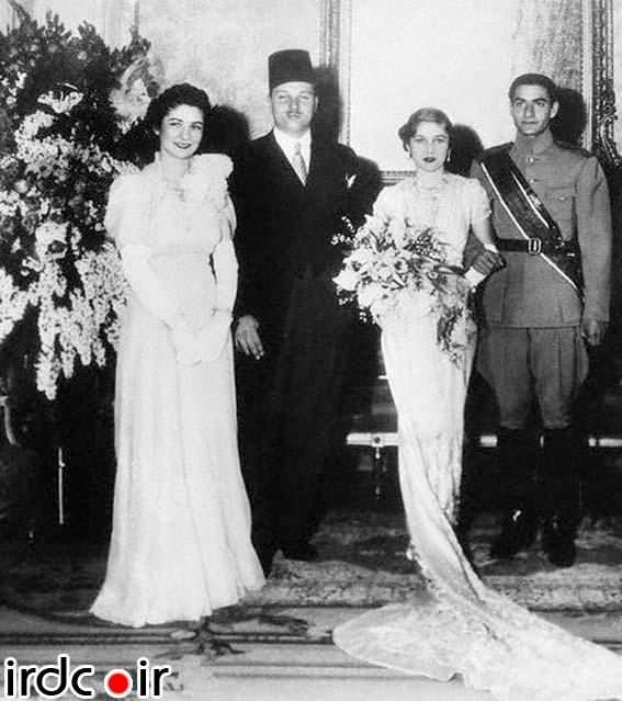 عکسی از اولین ازدواج محمدرضا پهلوی