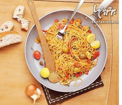 پامادورو، ترکیبی از اسپاگتى و سبزیجات کبابی