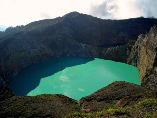 دریاچه های سه رنگ اندونزیایی، جذاب و دیدنی