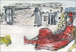 احمد زهدی تقاشی هایش را به گالری گلستان میآورد