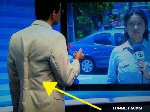 سوتی جالب مجری تلویزیون در خبرها زنده + عکس