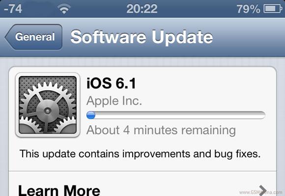 اپل iOS 6.1 را عرضه کرد