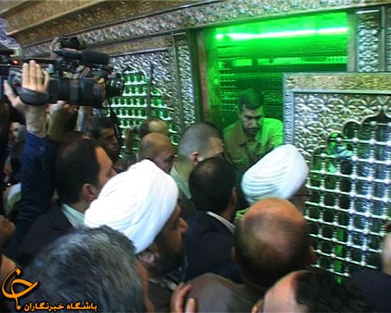 عکس از داخل ضریح حضرت عباس