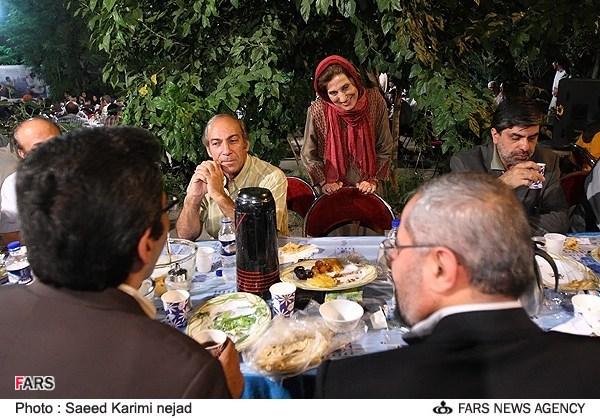 فاطمه معتمد آریا در افطاری دفاع مقدس ،عکس