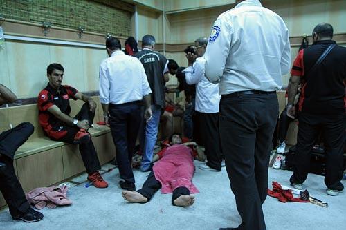 بازیکنان پرسپولیس بیهوش شده بودند! + عکس