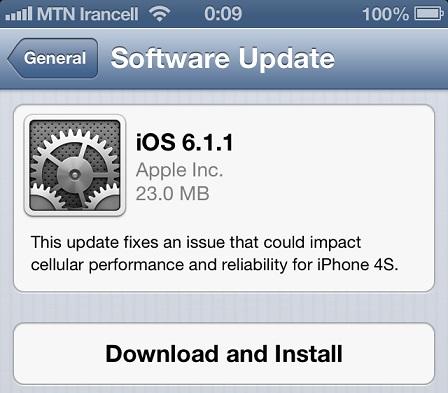 اپل iOS 6.1.1 را منتشر نمود